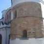 Спасский собор, под слоем штукатурки оригинальная кладка из плинфы